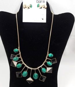 Bar III Necklace and Earrings Jewelry Set